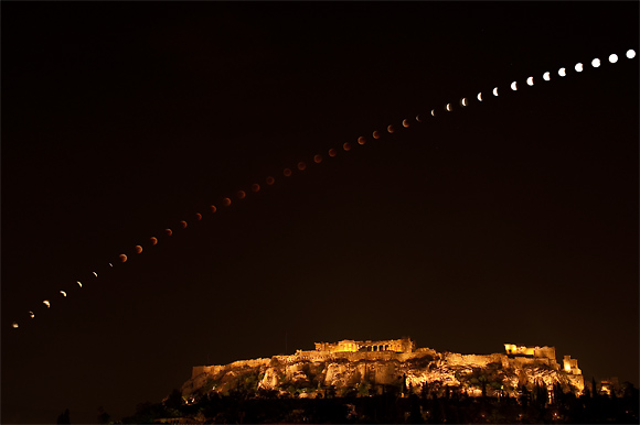 acropolis total lunar eclipse